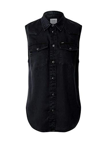 Lee Sleeveless Shirt Camisa, Sky Captain, XL para Mujer