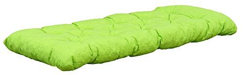 Chicreat Cuscino da panchina, verde/giallo, 120 x 50 x 8 cm