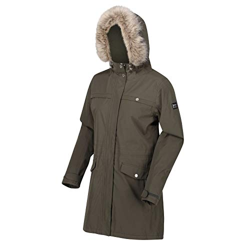 31ApWICcQoL. SS500  - Regatta Women's Serleena Ii Waterproof Taped Seams Insulated Lined Hooded Jacket With Security Pocket Jacket