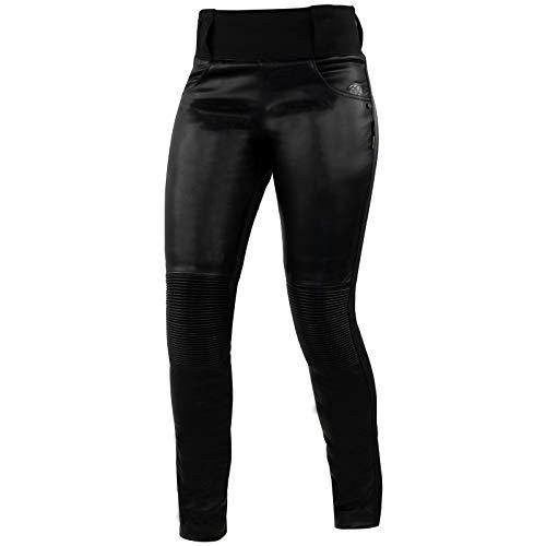 Trilobite Damen Motorradhose Leder Leggins L32, Schwarz, 32, 2061-black