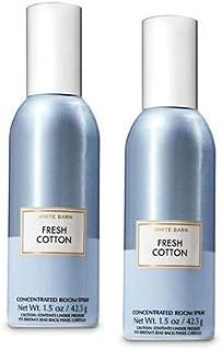 Bath and Body Works 2 Pack Fresh Cotton Room Spray 1.5 Oz.