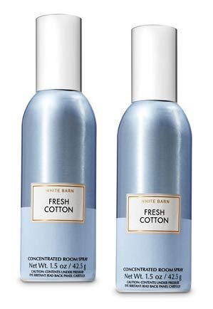 Bath and Body Works 2 Pack Fresh Cotton Room Spray 1.5 Oz.