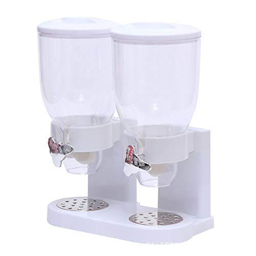 Great Features Of 5L Double Grain Dispenser, Bottles, Kitchen Storage Boxes, Cereals, Dry Grains, Gr...