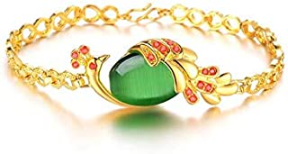 18 كيلو الذهب مطلي سوار الأزياء سيدة الماس سوار الكريستال سوار