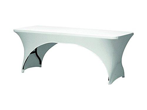Perel Tischüberzug - Stretch - Bogenförmig, 30 x 15 x 29 cm, weiß, FP400