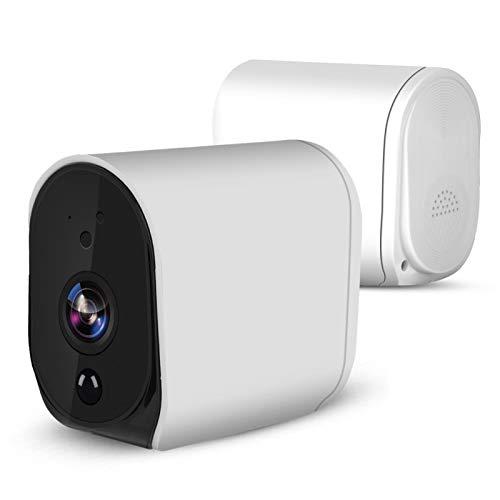 FOLOSAFENAR Cámara IP inalámbrica a Prueba de Agua Batería Cámara IP Audio bidireccional IR-Cut para Seguridad en el hogar 1080P HD