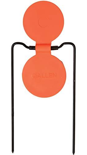 EZ-Aim Shooting Gallery Self-Healing Spinner Target, Gong Target by Allen, 12-14 Inches Tall, Shooting Targets, Gun - Rifle - Pistol - Airsoft - BB Gun - Air Rifle, Orange, One Size (15460)