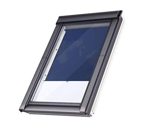 VELUX Kunststoff Dachfenster mit 2-fach Verglasung inkl. Eindeckrahmen und gratis Rollo (78 x 118 (MK06))