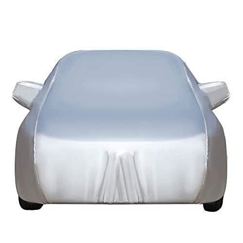 GYPPG Autoabdeckung Autoabdeckung kompatibel mit Peugeot 106 107 108 Vollständige Außenabdeckung Atmungsaktiv wasserdichtes Oxford-Tuch Allwetter-Lackschutz Winddichte staubdichte Autoplane