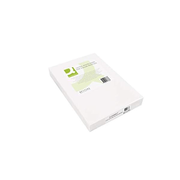 Q-Connect Papel Fotocopiadora Ultra White Din A4 100 Gramos Paquete De 500 Hojas