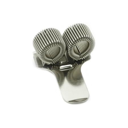 Portapenne doppio in metallo con clip da tasca.