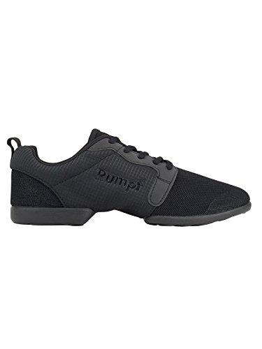 Rumpf Mojo Dancesneaker Tanzsneaker Tanzschuhe Hip Lindy Hop Gymnastik Trainings Hallen Aerobic Schuhe , schwarz, GB 6.5, EU 40