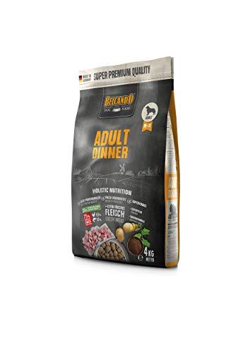 Belcando Adult Dinner Hundefutter | Trockenfutter für Hunde | Alleinfuttermittel für ausgewachsene Hunde Aller Rassen ab 1 Jahr (4 kg)