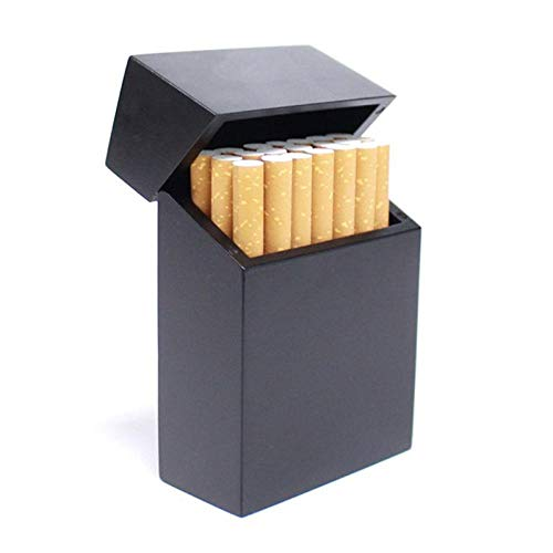 Cigarette Case Cigarettes Box Cigarette Box Wood with Rosewood and Cherry Wood Cigarette Case New Creative Clamshell-2 Tobacco Box (Color : 1)