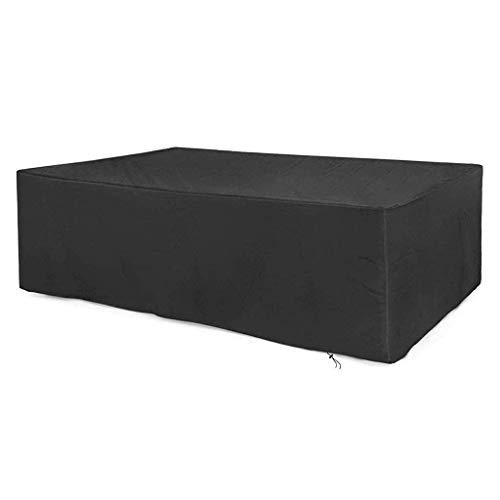 ZSML Funda Rectangular para Muebles de Varios tamaños, Tela Oxford 210D para Exteriores, Resistente a los Rayos UV, para Mesa y Silla, Resistente al Agua, Resistente al Polvo (tamaño: 123x123x74c