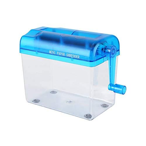 Mini trituradora de papel portátil para uso en la oficina en casa, trituradora manual para herramienta de corte de documentos en papel, trituradora de papel A6 de mano