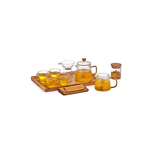Juego de té Juego de té chino Juego de té regalo Tetera de vidrio Tetera Tetera con infusor Plato de taza de té Juego de té Juego de taza y platillo Juego de taza de tetera