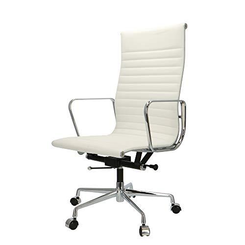 POP Designer Bürostuhl - Chefsessel, Schreibtischstuhl - Höhenverstellung - skai | Weiß | EA119