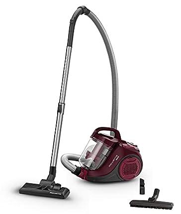 Rowenta - Aspiradora ciclónica compacta sin Bolsa Compact Power Cyclonic Rojo/Vino