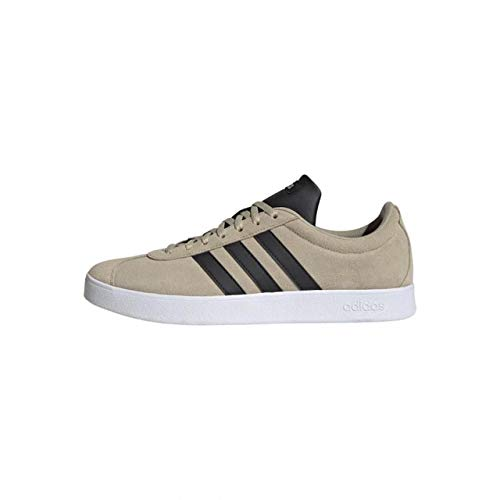 Adidas VL Court 2.0, Zapatillas de Deporte Skateboard Hombre, Blanco (Savannah/Core Black/FTWR White), 42 EU