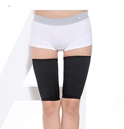 Egurs 1 paar dames bovenbeen compressiekousen steunkousen compressie dijbeen sokken zwart