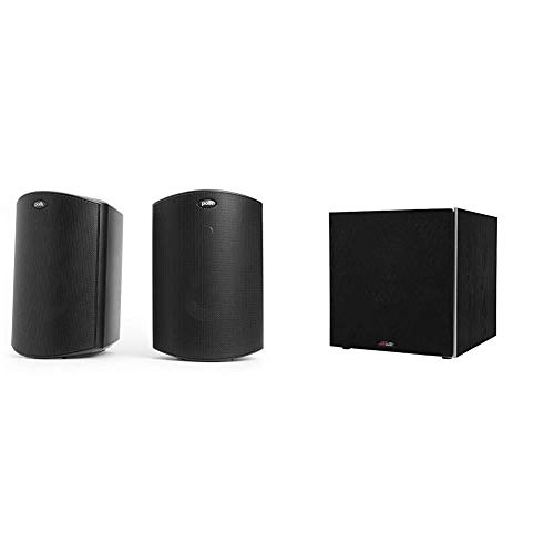 """Polk Audio Atrium 4 Outdoor Speakers with Powerful Bass (Pair, Black) 