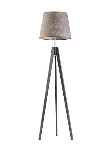 Aruba - Lámpara de pie (marco de madera gruesa), color gris