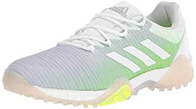 adidas womens W Codechaos Golf Shoe, Ftwr White/Ftwr White/Signal Green, 7.5 US
