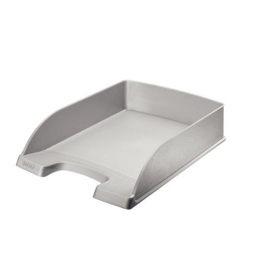 Leitz Plus flacher Briefkorb, A4, Silber, 52270084