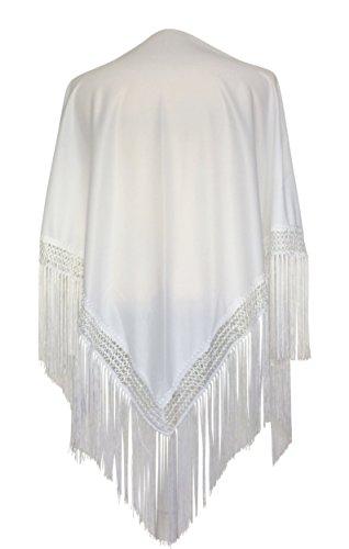 Mantoncillo de flamenca blanco 💛