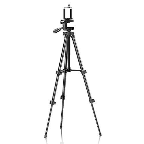 FEANG Ligera trípode, la cámara del teléfono trípode de Aluminio con Soporte de Bluetooth Remoto, Soporte de teléfono y Bolsa de Transporte for Viajes/Fotografía (tamaño : A)