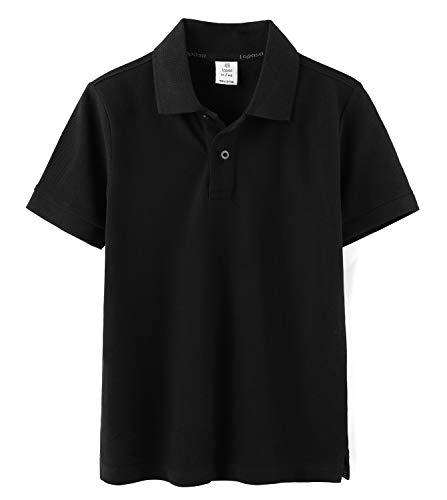 LAPASA Polo para Niños de Manga Corta Uniforme Escuela Camiseta Casual Unisex 100% Puro Algodón K03