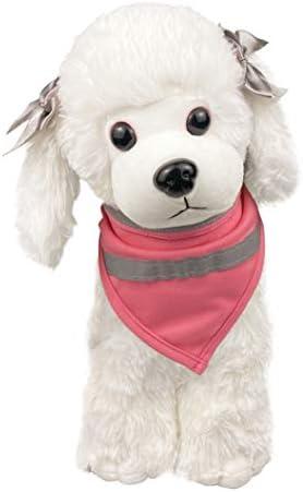 MSNFOASM Dog Bandanas Reflective Dog Scarf Velcro Dog Bandana Cat Rose red S product image