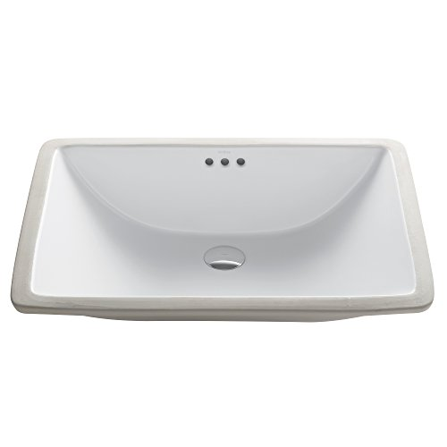 Kraus KCU-251 Elavo Bathroom Undermount Sink, 23 Inch, White