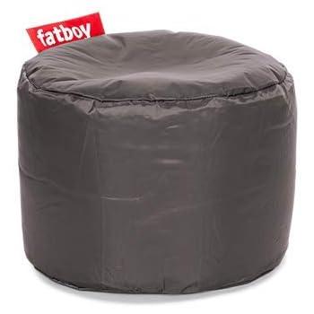 Fatboy® Point Hocker Nylon Dark Grey | Runder Sitzhocker in Dunkelgrau | Trendiger PoefFußbankBeistelltisch | 35 x ø 50 cm