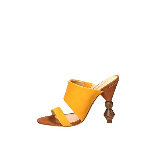 Schutz Sandalo con Tacco In Nabuk Giallo