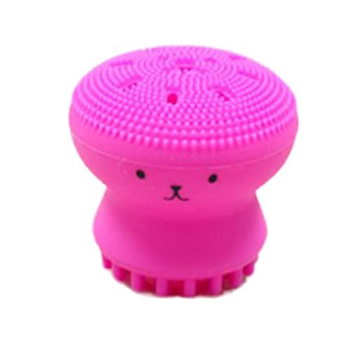 Persdico Silicona Creativa Pequeño Pulpo Lindo Cepillo de Limpieza Facial Limpiador de Poros Instrumento de Belleza Lavado de Cara Exfoliante