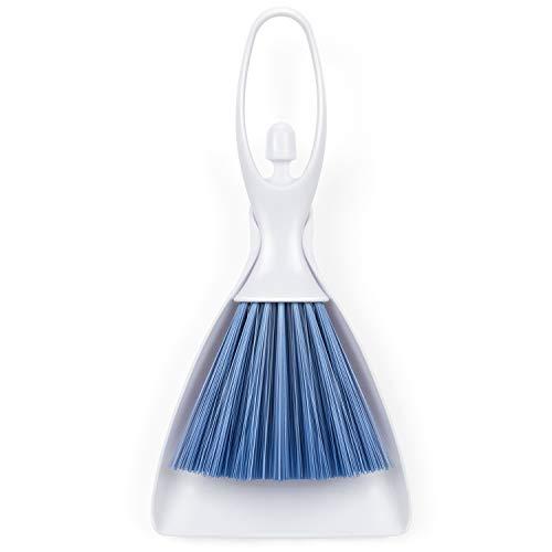 RIZON Besen und Kehrschaufel Set Klein, Handfeger Schaufel Kehrset für Staub Haaren Auto und für Hausboden Sofa Schreibtisch Reinigung