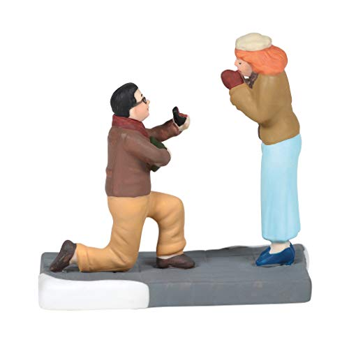 Department 56 Christmas in The City Village Accessories Will You Marry Me Figurine, 2.6 Inch, Multicolor