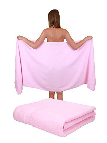 Betz Paquete de 2 Toallas de Sauna Palermo 100% algodón tamaño 80x200 cm Color rosé