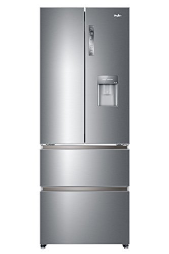 Haier HB16WMAA Freestanding American Fridge Freezer, 422L Total Capacity, 70cm wide, Stainless Steel...