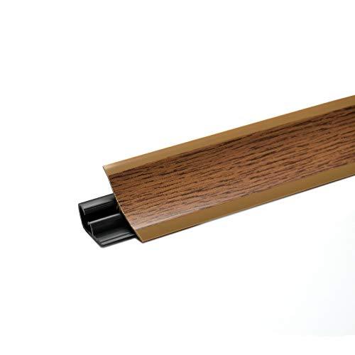 DQ-PP 3m WINKELLEISTE | Eiche rustikal | 23 x 23mm | PVC | GRATIS Schrauben | Küchenleiste Arbeitsplatte Abschlussleiste Leiste Küche Küchenabschlussleiste Wandabschlussleiste Tischplattenleisten