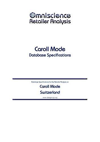 Caroll Mode - Switzerland: Retailer Analysis Database Specifications (Omniscience Retailer