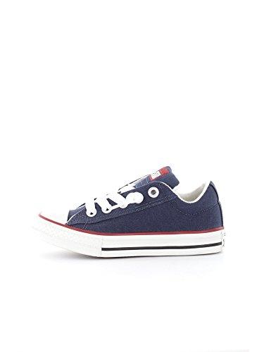Converse Chaussures All Star CT Street Slip Navy Kids Blue Canvas 637742C 27 EU