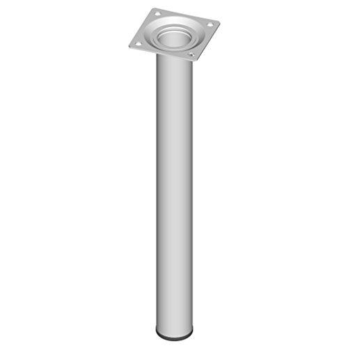 Element System 4 Stück Stahlrohrfüße rund, Tischbeine, Möbelfüße inklusive Anschraubplatte, Länge 30 cm, Durchmesser 30 mm, 4 Farben, 11 Abmessungen, weiß, 11100-00033