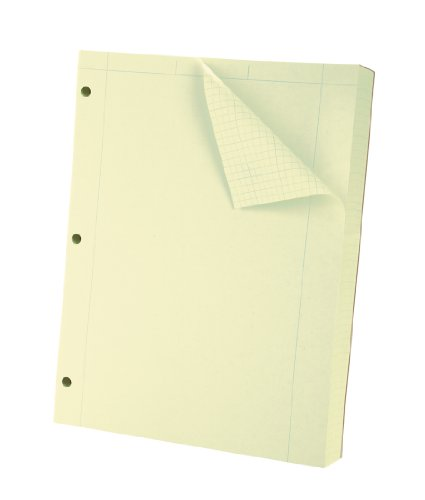 Oxford Engineering Computation Filler Paper, Greentint, 3-Hole Punched, Letter Size, 5 square inch ruling, 500-Sheets (26-145)