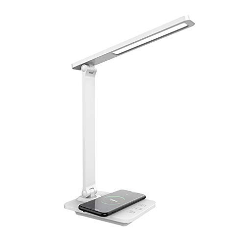 Lámpara de escritorio LED de protección de ojos de mesa de tres tonos de luz recargable lámpara de lectura plegable Timing Dormitorio lámpara de noche (10 W)