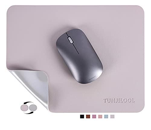 TUNJILOOL Antideslizante Alfombrilla de ratón de Cuero PU, Doble Cara Alfombrilla Raton pequeña Alfombrilla estándar para ratón Impermeable Mouse Mat ( 270 * 210 * 2 mm ) para Oficina PC Ordenador