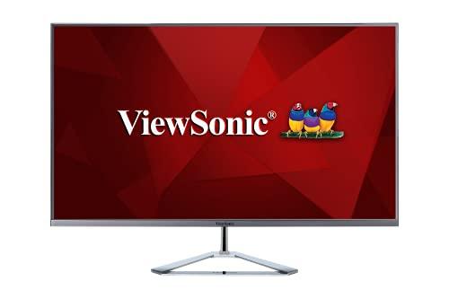 Viewsonic VX3276-MHD-3 80 cm (32 Zoll) Design Monitor (Full-HD, IPS-Panel, HDMI, DP, Eye-Care, Eco-Mode, Lautsprecher, 3 Jahre Austauschservice) Silber-Schwarz