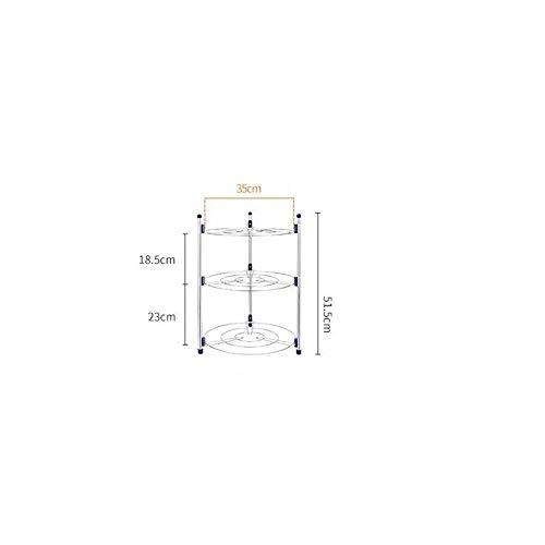 WEIFAN-Kitchen shelves Support de Pot de Cuisine Multi-Couche en Acier Inoxydable Support Multi-Fonction Support de Rangement Multi-Couche Adapté à la Cuisine Balcon Salle de Bains Jardin (3 étages)